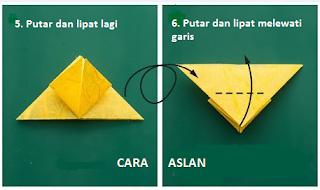 cara membuat origami kupu kupu dari uang