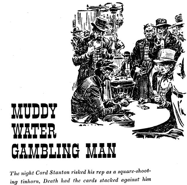 Illustration for Muddy Water Gambling Man by Norman A. Fox in Western Story Annual, 1948
