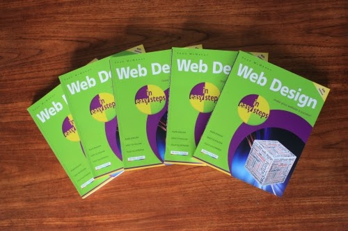 A photo of some copies of Web Design in Easy Steps