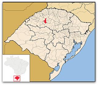Cidade de Ijuí, no mapa de Rio Grande do Sul
