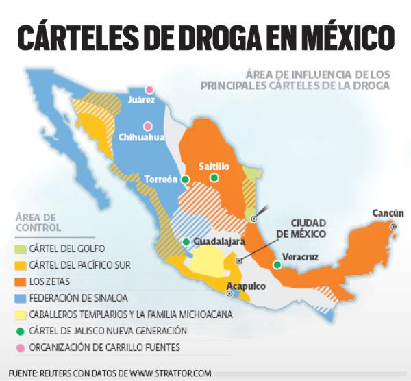 El Mapa del narco y area de influencia asi es como los Cárteles Mexicanos acaparan heroína y extienden redes para dominar el mercado