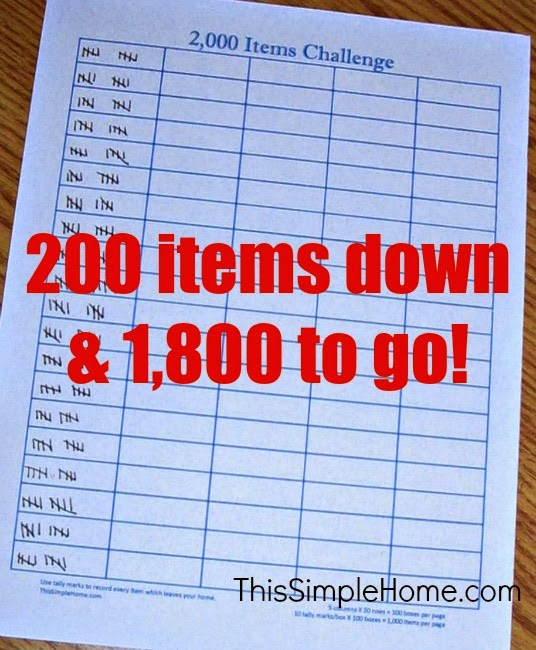 Becoming clutter free
