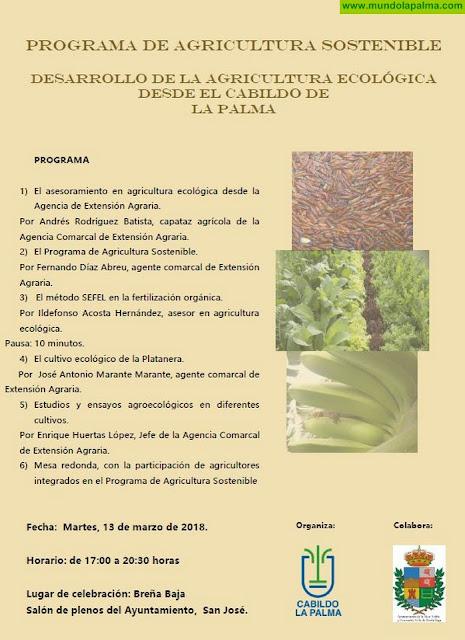 """Jornada sobre el """"Programa de Agricultura Sostenible. Desarrollo de la agricultura ecológica desde el Cabildo Insular de La Palma"""""""