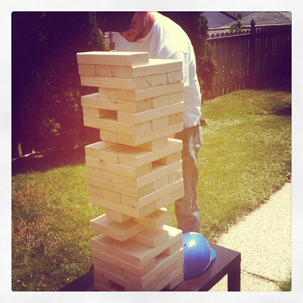 what i'm loving today . . .: Make Your Own Giant Jenga Board