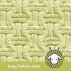 Knit Purl 8: Double Basketweave | Easy to knit #knittingstitches #knittingpatterns
