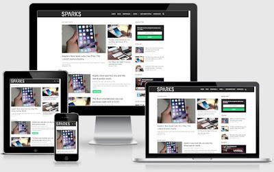 Kết quả hình ảnh cho template blogspot sparks