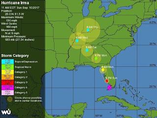 Ο κυκλώνας Ίρμα έφτασε στη Φλόριντα