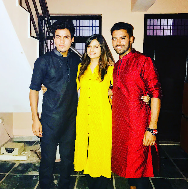 Deepak with sister brother