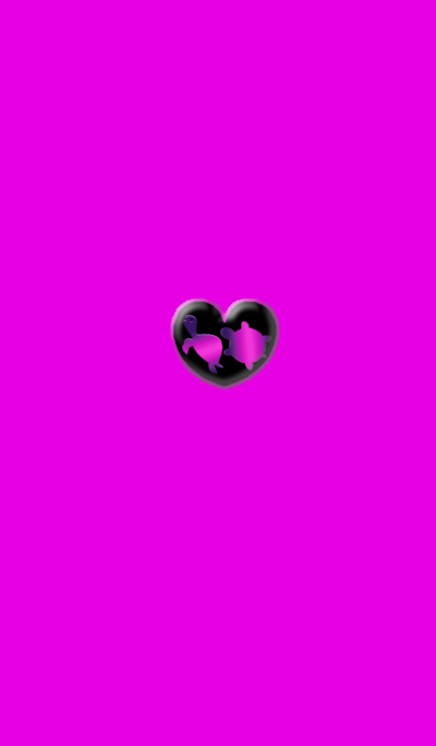 Two turtles of money luck Pink Heart