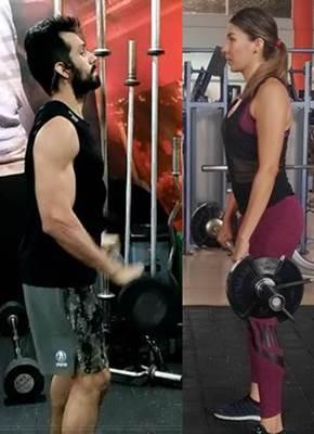 Entrenamiento muscular con pesas para personas delgadas