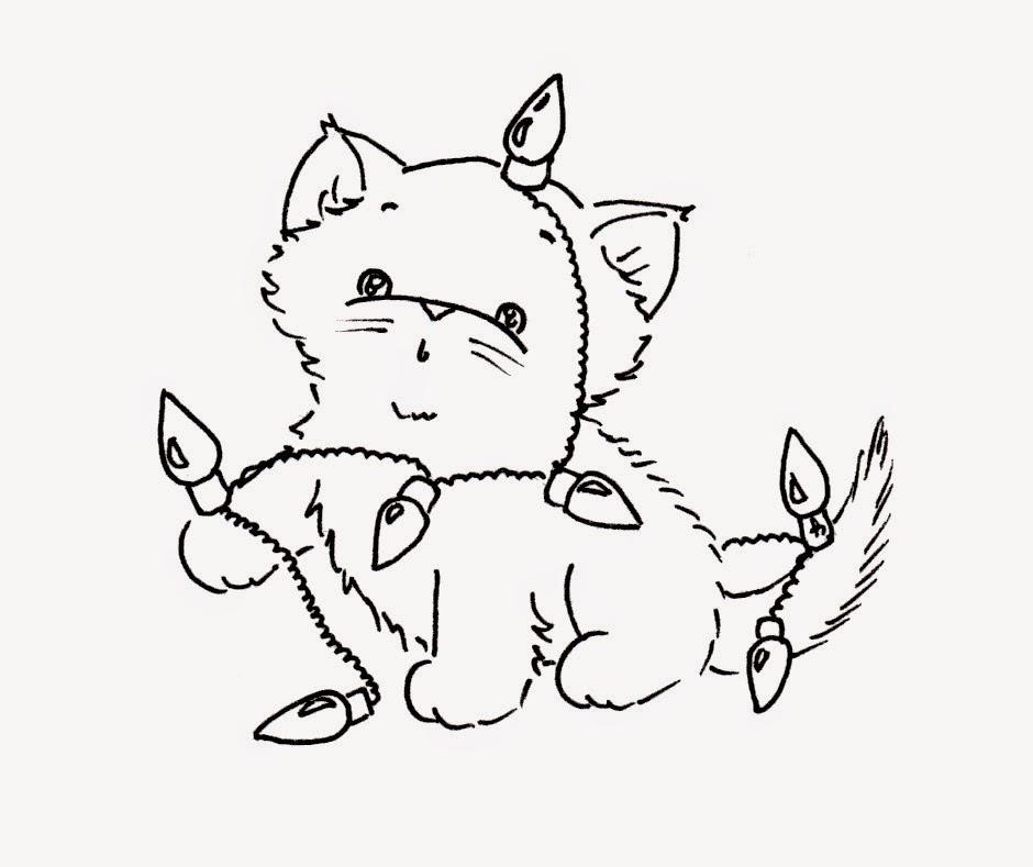 Sliekje Digi Stamps Christmas Cats