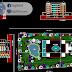 مخطط مشروع فندق 4 نجوم اتوكاد 2 dwg