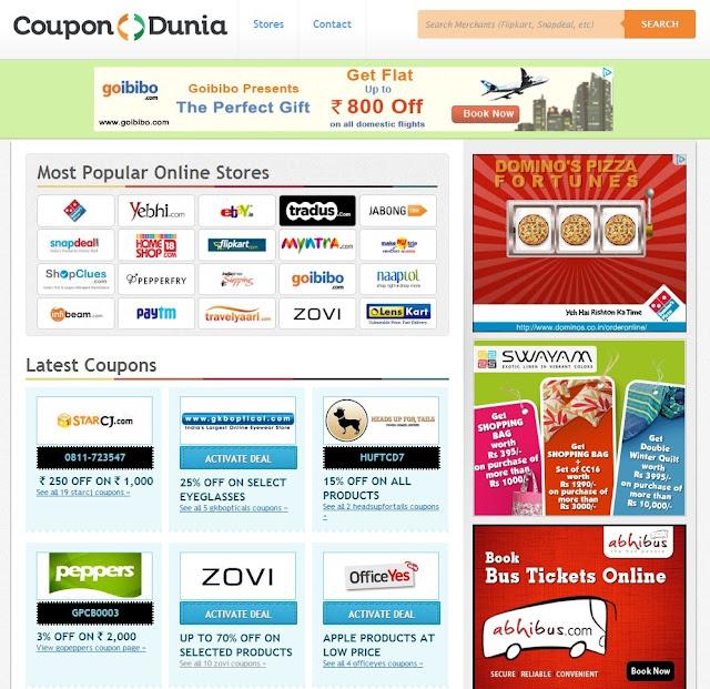 Coupondunia snapdeal coupons