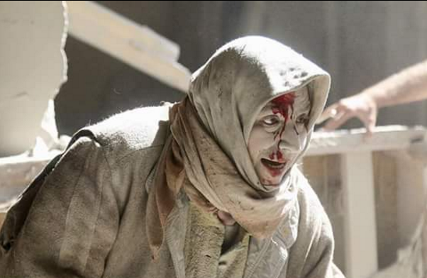 Bombardir Menimpa Warga Aleppo Di Suriah