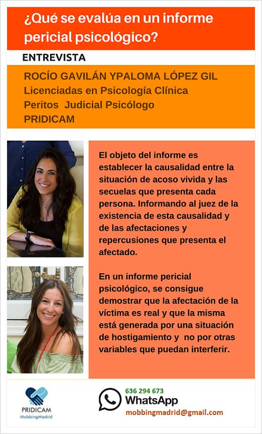 MobbingMadrid Entrevista: ¿Qué se evalúa en un informe pericial psicológico?