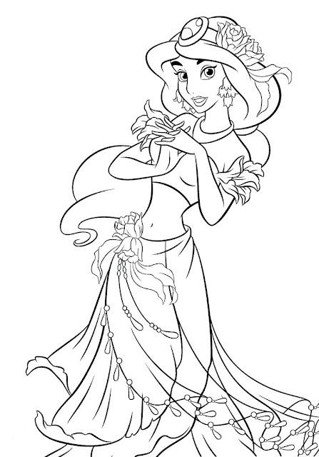 tranh tô màu công chúa Disney 12