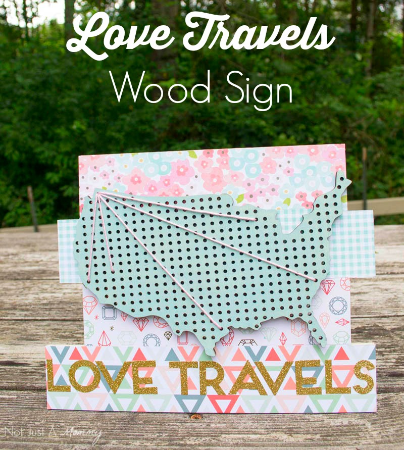A great project for yourself or family...Love Travels Wood Sign