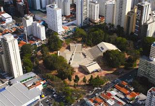 vista aérea do Centro de Convivência