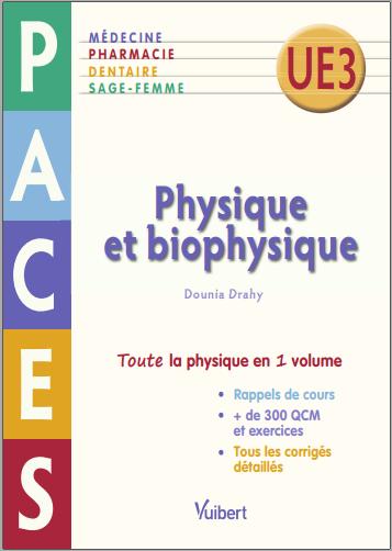Livre : Physique et Biophysique, PACES UE 3 - Dounia Yazidi PDF