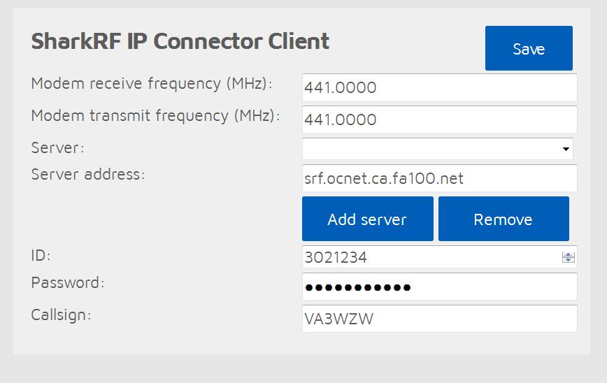 SharkRF IP Connector Protocol server [Testing] - SharkRF community