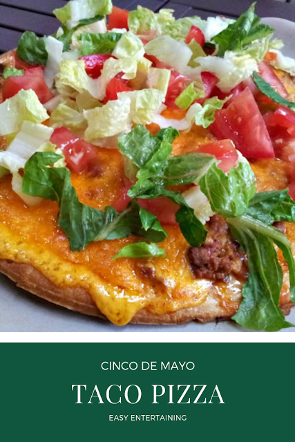 Taco Pizza: Great for Cinco de Mayo, Mexican Night. Easy Weeknight Meal instead of Tacos