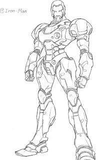 coloring book pages ironman | Iron Man The Avengers - Best Coloring pages | Minister ...