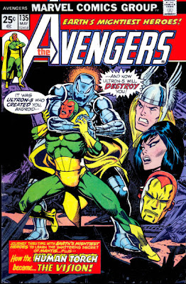 Avengers #135, Ultron and the Vision, origin of the Vision