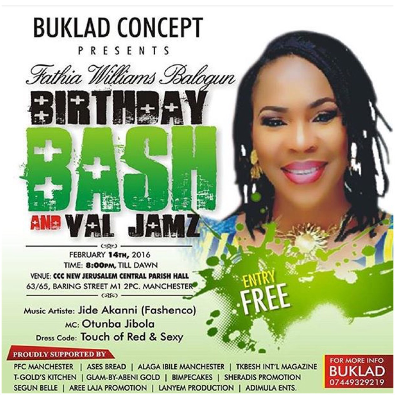 fathia balogun 47th birthday party