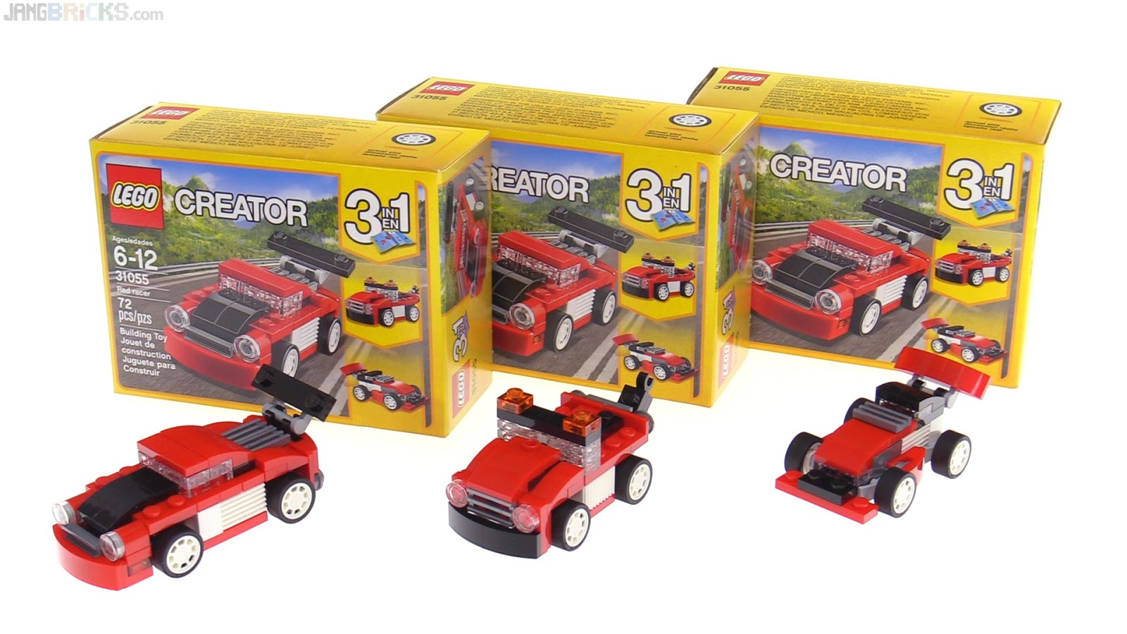 LEGO Creator Red Racer 3 in 1 review  31055