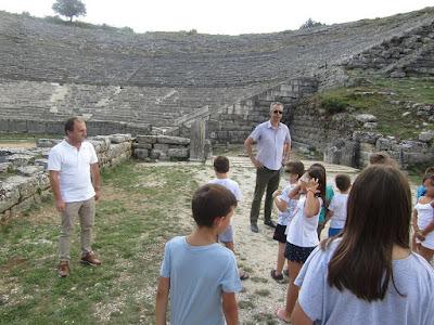 Τα παιδιά γνώρισαν τον αρχαιολογικό χώρο της Δωδώνης