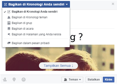 Membagikan Kiriman Ke Group Facebook