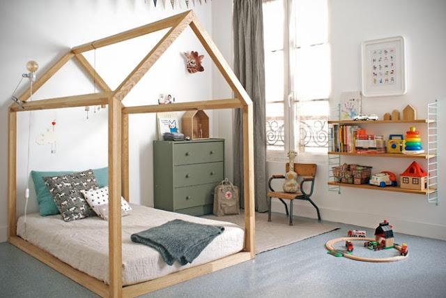 Green Pear Diaries, interiorismo, dormitorios, niños, dormitorios infantiles, montessori