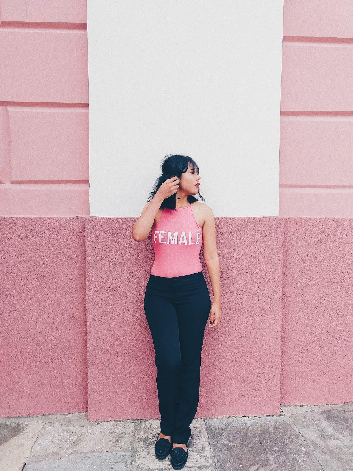 Calça Social Preta + Body