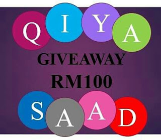 Giveaway Cash RM100 by Qiya Saad for December 2017