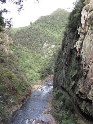 Garganta Karangahake y río Waitawheta desde Windows Walk, Nueva Zelanda