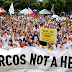 Only hundreds attend anti-burial rally