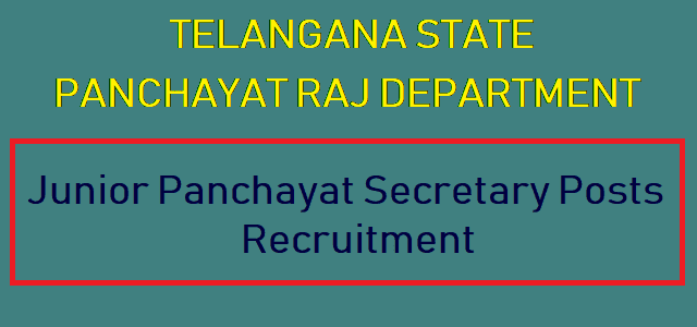 TS Jobs, TS Notifications, TS Recruitment, Junior Panchayat Secretaries Jobs, TS Junior Panchayat Secretary Posts, Panchayat Raj and Rural Employment