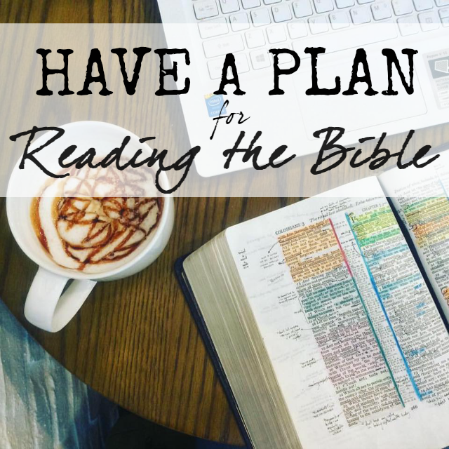 have a plan for reading the bible tips