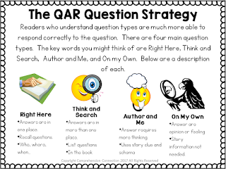 Teach Question-Answer Relationships or QAR using Miss Rumphius to help your students deepen their understanding.