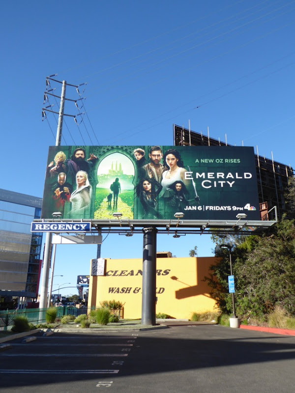 Emerald City NBC series billboard