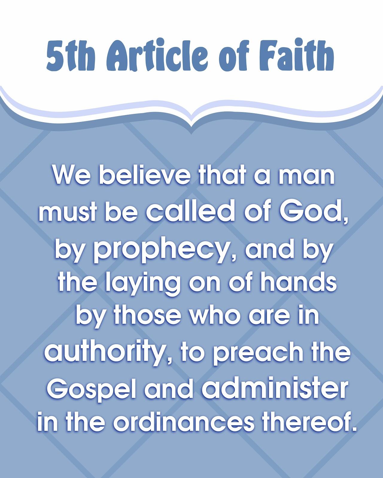 Articles Of Faith Lds