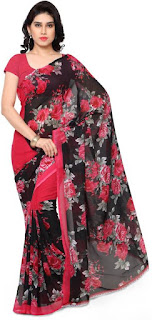 Anand Synthetic Georgette Saree Printed Daily Wear