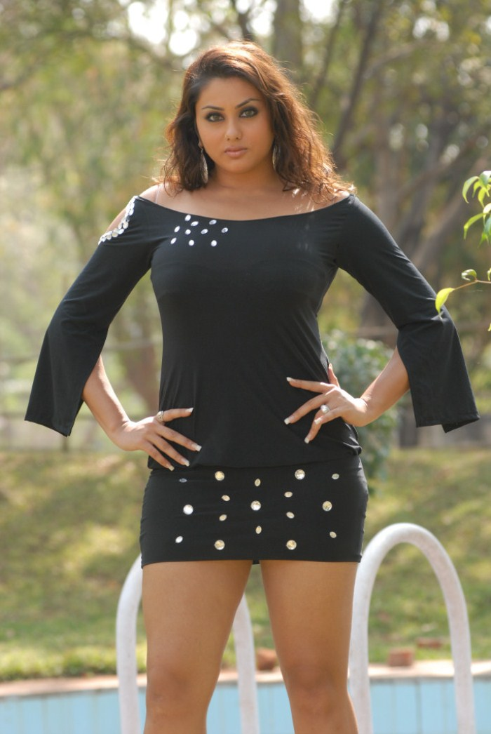 Pictures And Wallpapers Namitha Black Dress Pictures -7349