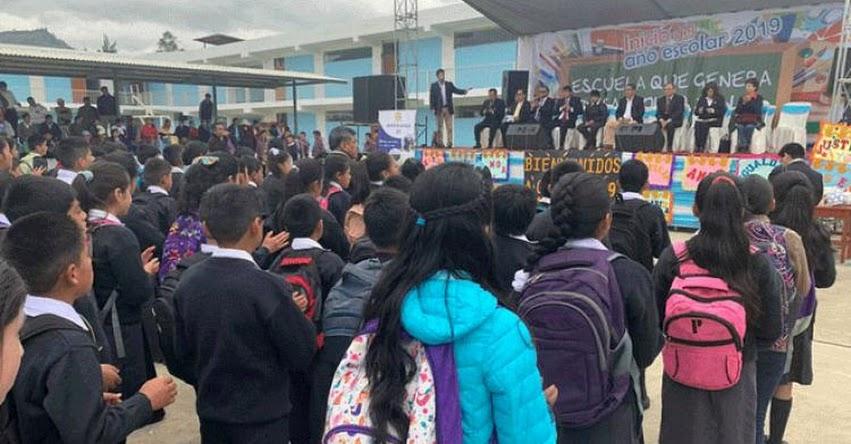 AÑO ESCOLAR 2019: Medio millón de estudiantes retornaron a clases en Cajamarca