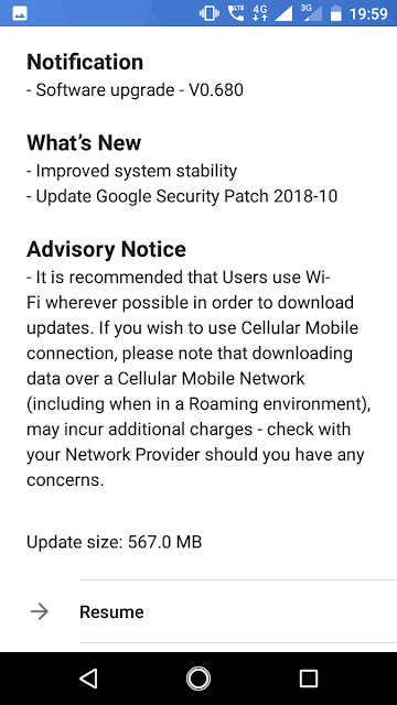 Nokia 2 receiving October 2018 Android Security Update