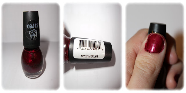 Swatch Vernis à Ongles Teinte M257 Merlot - Sinful Colors