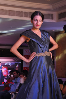 South Indian Celebrities Pos at Love For Handloom Collection Fashion Show  0029.jpg