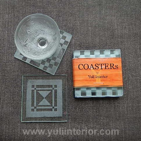 "4"" Glass Coasters, Home improvement, Nigeria"