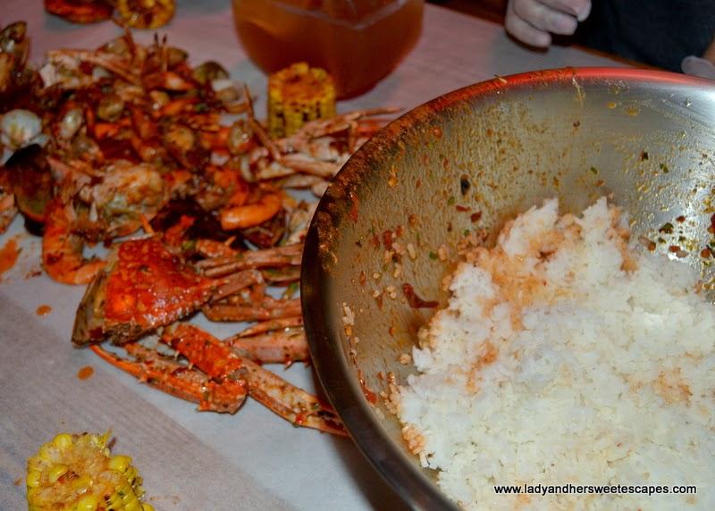 unlimited rice at Dampa restaurant Dubai