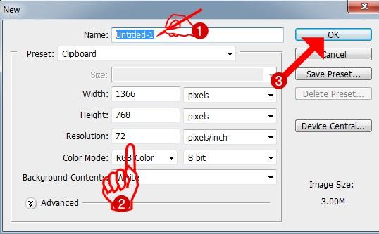 sebelum Anda memulai berkreasi menulis maupun menggambar dengan memakai software Phot DT:: Cara Praktis Membuat Lembar Kerja Baru di Adobe Photoshop